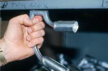 silver handle