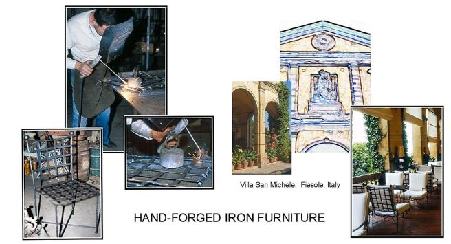 Hand- forged furniture for blog