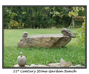 Stone garden bench for blog