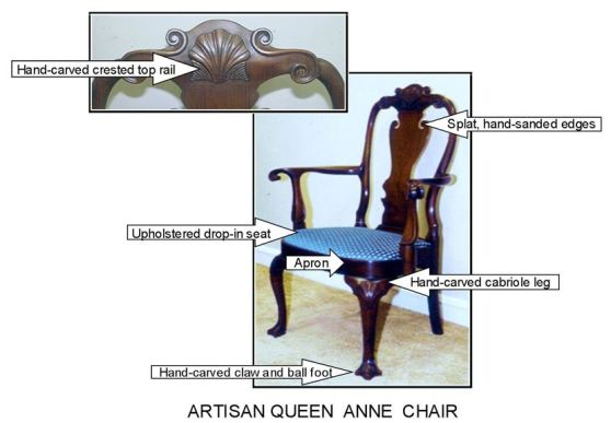 Artisan Queen Anne chair for blog